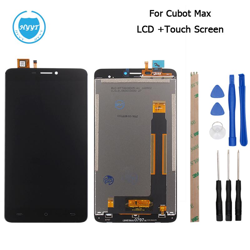 Prix pour Cubot MAX Écran LCD Affichage et Écran Tactile D'origine Digitizer Assemblée de Remplacement Avec Des Outils Pour Cubot MAX Mobile Accessoire