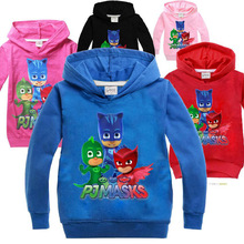EMS DHL Free shipping 2017 New HOT Spring Autumn PJ MASKS Clothing Children long Sleeved Sweater 5Color