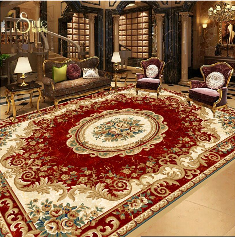 Squeezed red European style 3D Flooring pvc Self adhesive Painting Wallpaper For Living room Bedroom Bathroom Kitchen Corridor 3 d pvc flooring custom photo self adhesive material wall sticker 3 d great falls nature painting room wallpaper for walls 3d