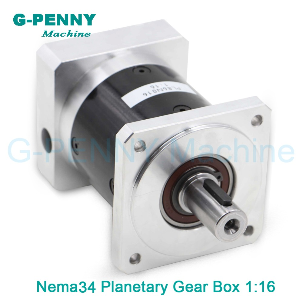 Nema34 stepper motor planetary reduction ratio 1:16 planet gearbox 86 motor precision type, High Torque high quality 6~8 arcmin!