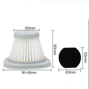 Image 3 - 5 PCS الأبيض فلتر هواء مانع للجسيمات عالي الكفاءة + 5 PCS hepa تصفية القطن فراغ نظافة أجزاء من فراغ نظافة فلتر عنصر DX118C DX128C