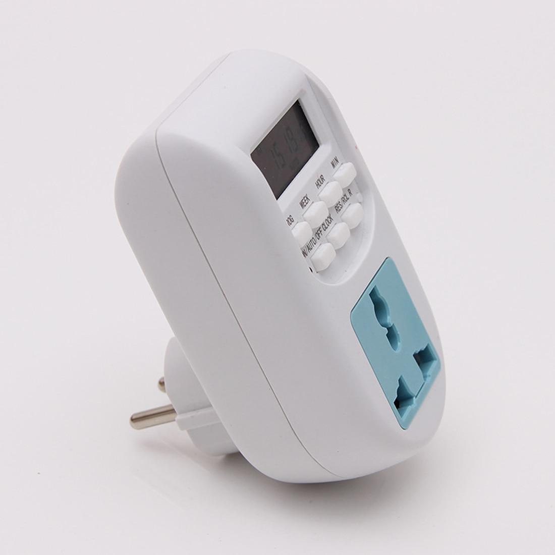 Digital Timer EU Plug New Energy Saving Timer Programmable Electronic Timer Socket  Household Appliances For Home Devices