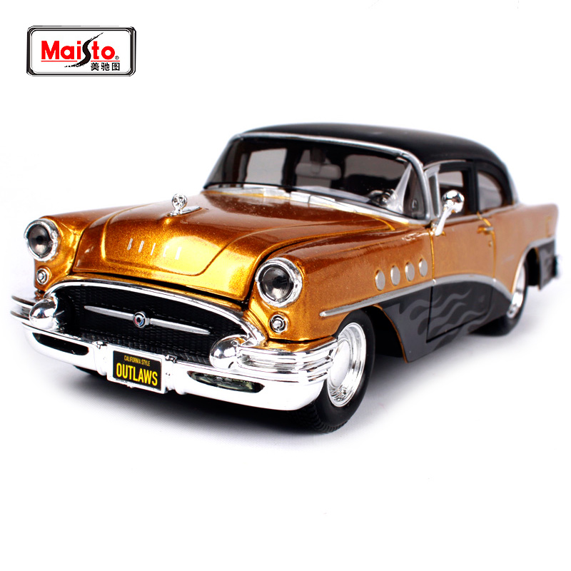 Maisto 1:24 1955 Buick Century Outlaws Mașină de poliție Veche Mașină Diecast Model Mașină Toy New In Box Transport gratuit 32507