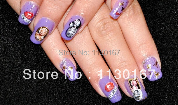 Nail art decals for sale gallery nail art and nail design ideas stickers princess picture more detailed picture about hot sale hot sale audrey hepburn marilyn monroe water prinsesfo Choice Image