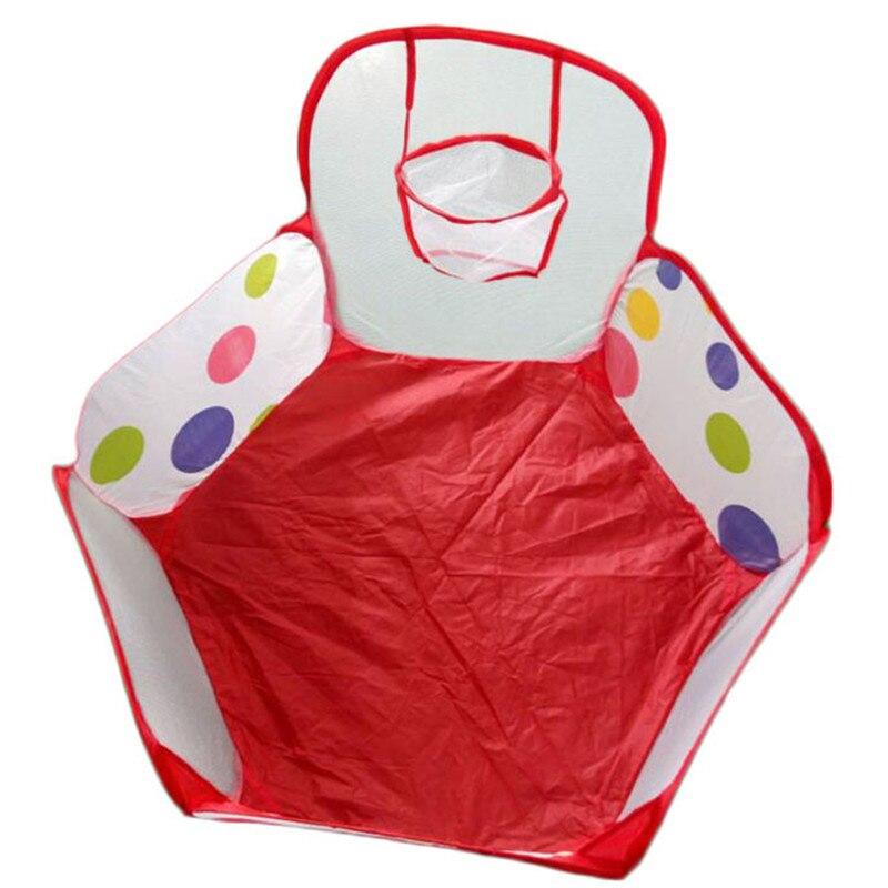 90cm Foldable Kids Children Ocean Ball Pit Pool Ball Play Toys Tent Pop up Hexagon Polka