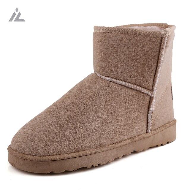 IVog 2016 da Neve do Inverno Botas de Mulheres Bota Rebanho Dentro Quente Snowboots Bota Mulher Tornozelo Sapatos Casuais das Mulheres Ugs 8 cores
