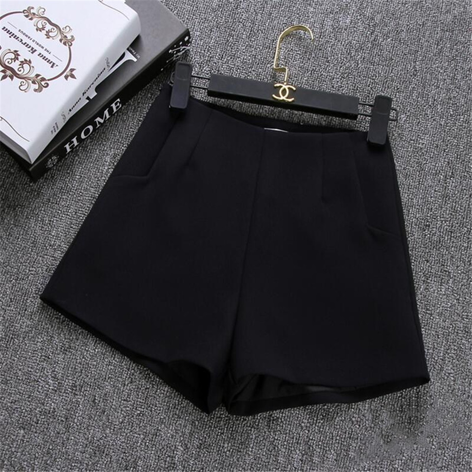 HTB1nB1wcnlYBeNjSszcq6zwhFXaG - New Summer Women Shorts Skirts Casual High Waist Shorts Female Black White Short Pants Hot Fashion Lady Shorts For Women