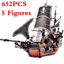 sermoido Pirates Ship Bricks Black Pearl Building Blocks Sets Compatible With Legoings Christmas Gifts Toys For Children недорго, оригинальная цена
