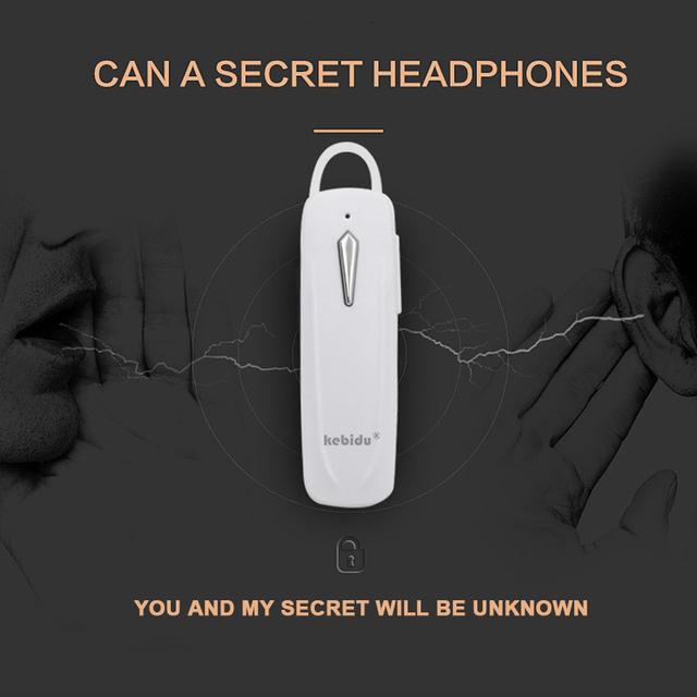 kebidu Bluetooth 4.2 Wireless Earphone Ear Hook Earbuds Headset Ultralight Handsfree Earloop Earpieces for Smartphone Sports