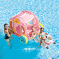 Детская Надувная розовая лодка для дома и водного использования
