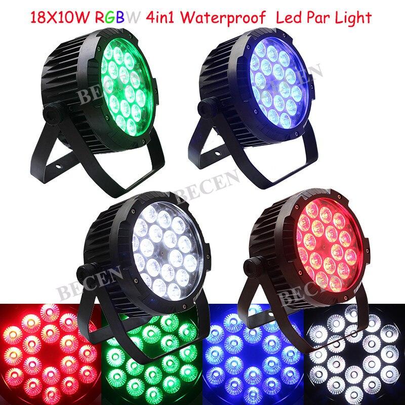 4pcs BECEN IP65 12X10W RGBW Waterproof 4in1 Led par can light IP65 OUTDOOR led par lights DJ STAGE lightings