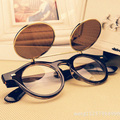 Free shipping 2016 New Fashion glasses Women men Fashion retro  punk double-deck  roundness Sunglasses summer 4 colors glasses