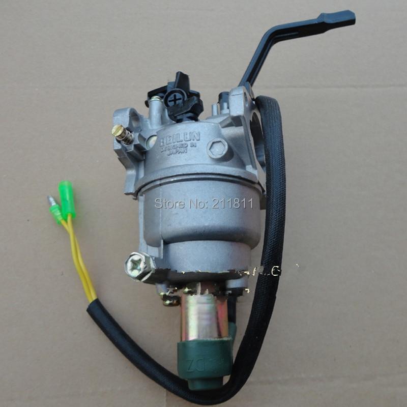generator carburetor for GX340 gx390 188F 5kw  6.5kw gasoline engine, solenoid valve,carburetor for generator,Manual Choke Valve  цены