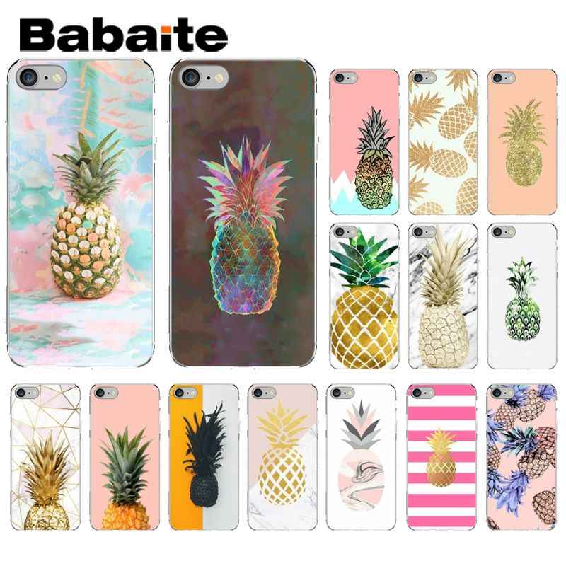 Babaite Marble Pine apple Custom Photo โทรศัพท์กรณีสำหรับ apple iPhone 8 7 6 6 S Plus X XS MAX 5 5 S SE XR ฝาครอบ
