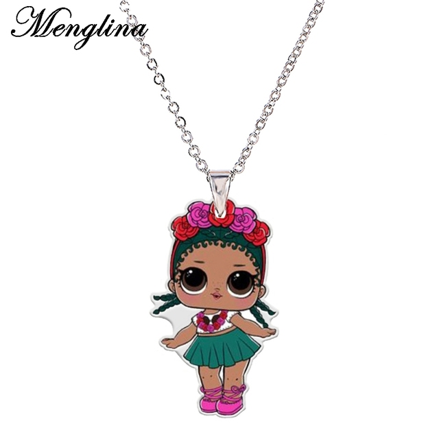 Menglina acrylic cute flower girl necklaces pendants for children menglina acrylic cute flower girl necklaces pendants for children flatback doll resin charm chokers necklaces aloadofball Gallery