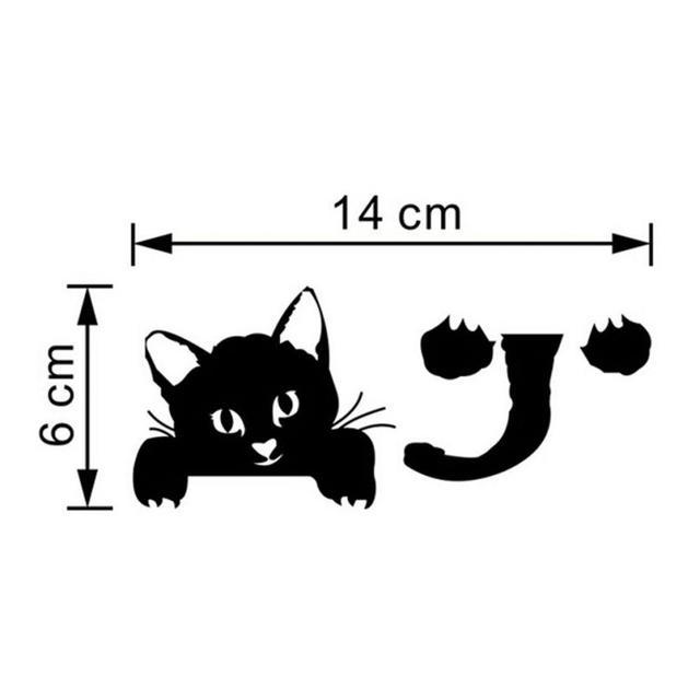 Cute Black Cat Switch Decal
