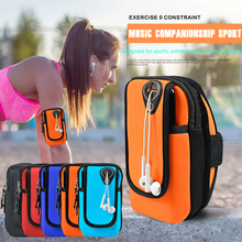 Running Arm Bag For Phone Armband Case Mobile phone Holder Sport Outdoor Jogging Workout Arm Pouch With Hole For Headset D35 стоимость