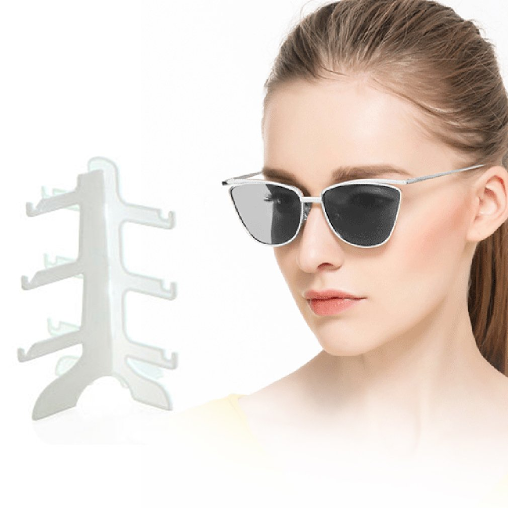 19.7*16cm 3 Layer White/clear Eyeglasses Sunglasses Show Stand Rack ...
