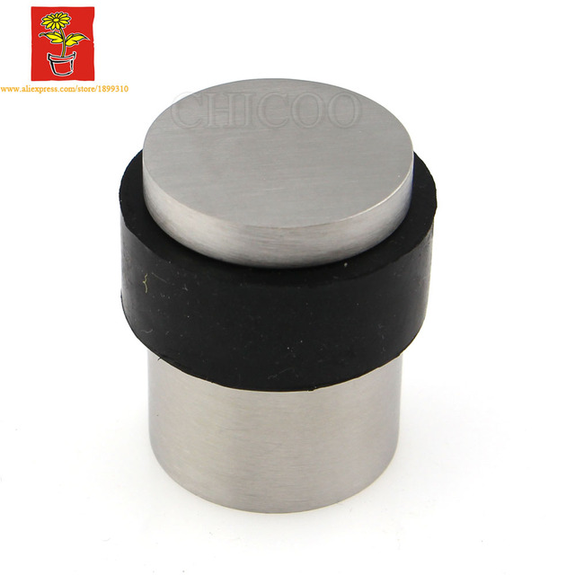 Nice Wholesale 10PCS Stainless Steel 304 Cylindrical Door Stopper Increase Door  Stop Floor MOUNTED Doorstops