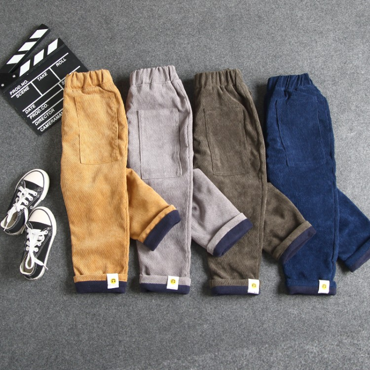 winter new fashion baby corduroy pants boys thicken solid straight trousers children keep warm bottoms child autumn pants afs jeep new men cargo pants autumn winter overall loose straight more pocket jeans fashion casual man trousers bottoms