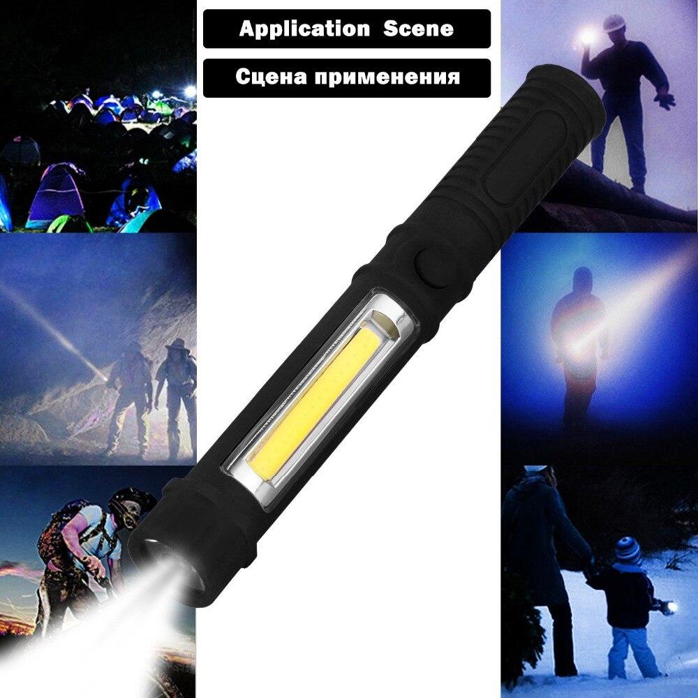 Удара светодиодный фонарик Ручной лампа работает контрольные Многофункциональный Обслуживание Портативный Кемпинг Фонари свет с AAA