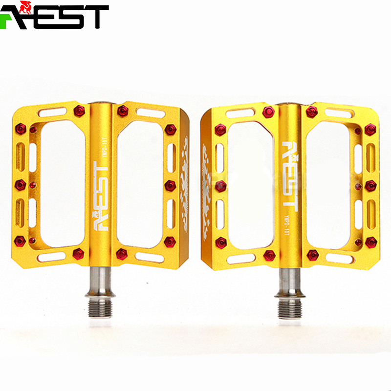 Hot AEST Bike MTB BMX DH Platform Pedals CNC Titanium Spindle Ti Axle pedal aluminum cycle pedal road bike parts pedals bmx rockbros titanium ti mtb road bike bicycle pedals pedal spindle wellgo mg1 mg 1 mg 1