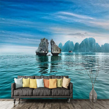 custom 3d modern decorate photo wallpaper bedroom living room large background wall mural blue sky ocean reef scenery wallpaper free shipping sky ceiling 3d bedroom wallpaper ktv bar backdrop wallpaper sky theme room large mural wallpaper