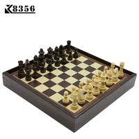 K8356 Hot Board Game Wooden Chess Set Box Wooden Table Environmental Protection Natural Green Water Paint