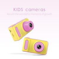 Мини цифровая камера 2 дюймов мультфильм Милая камера обучающие игрушки для детей подарок на день рождения 1080 P малыш несколько языков камер...