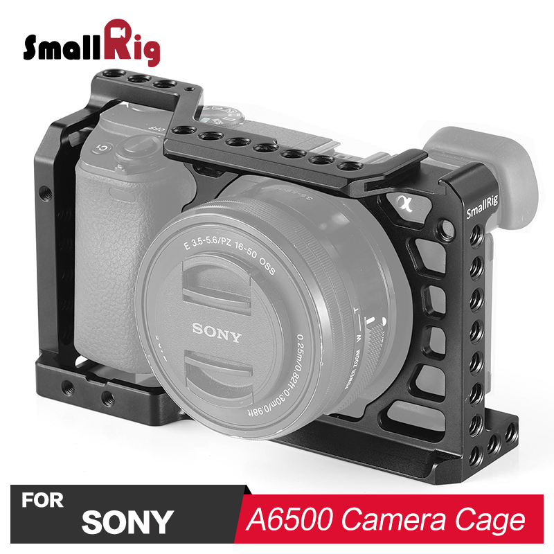 SmallRig Camera Cage for Sony A6500 ILCE A6500 with Nato Rail Cold Shoe Mount On Top