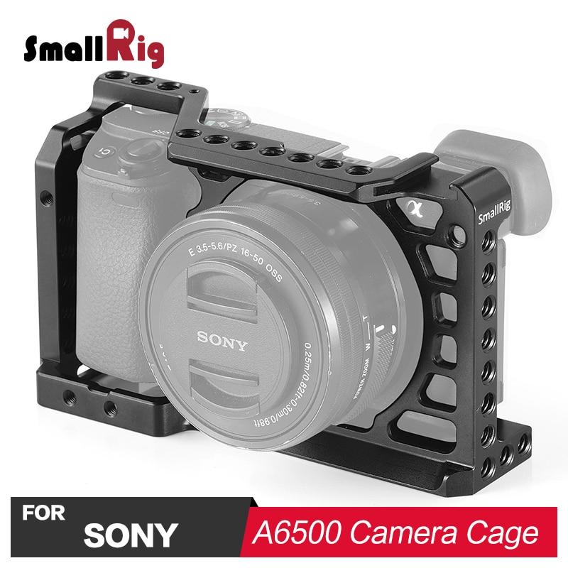 Cage de caméra SmallRig pour Sony A6500 ILCE A6500 avec Rail de l'otan support de chaussure froide sur le dessus pour bras magique Micorphone attacher 1889-in Cage pour caméra from Electronique    1