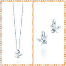 SHINETUNG 1:1 S925 Sterling Silver Original TIFF High Quality OliveLeafPendantNecklace Women Fine FashionNecklace Jewelry