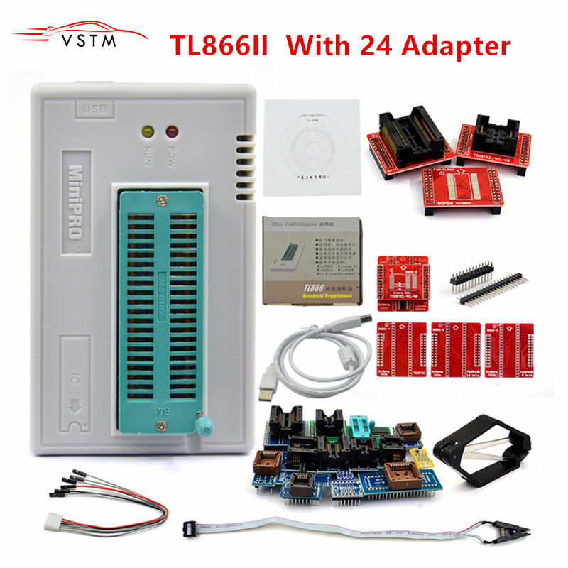 TL866 II Plus Original USB Universal Programmer EEPROM FLASH With 24/25/28 Adapters High Speed Programmer Free Shipping