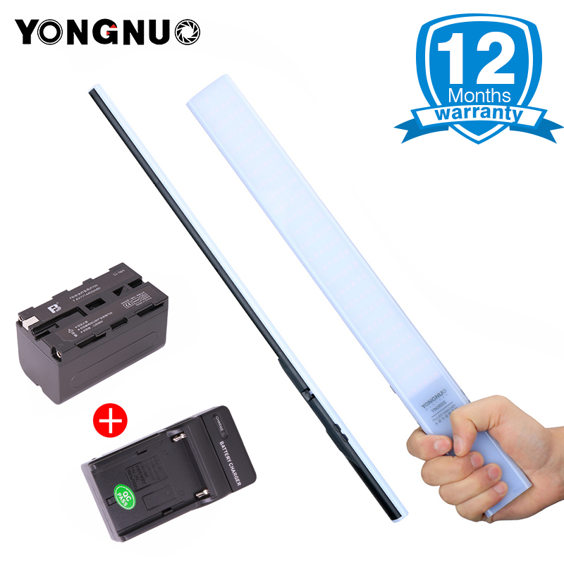 2018 YONGNUO YN360S 3200K-5500K Handheld Ice Stick LED Video Light+NP-F550 Battery Charger Photographyic Lamp Phone App Control