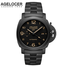 New Agelocer Fashion Top Brand Watch Male Army Wrist Watches Carbon Ceramic Bracelet Men's Mechanical Watch relogio masculino