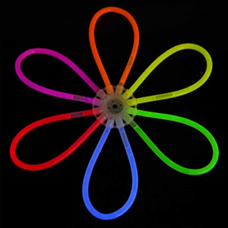 Vara de luz luminosa vara conector diy brinquedo montagem conector plástico fluorescente accessories3/12 buraco disco conector