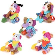 Купить с кэшбэком Stuffed Teether Baby Toys 0 12 Months Educational Toys For Newborn Baby Rattles Mobiles Stroller Toy Infant Gift