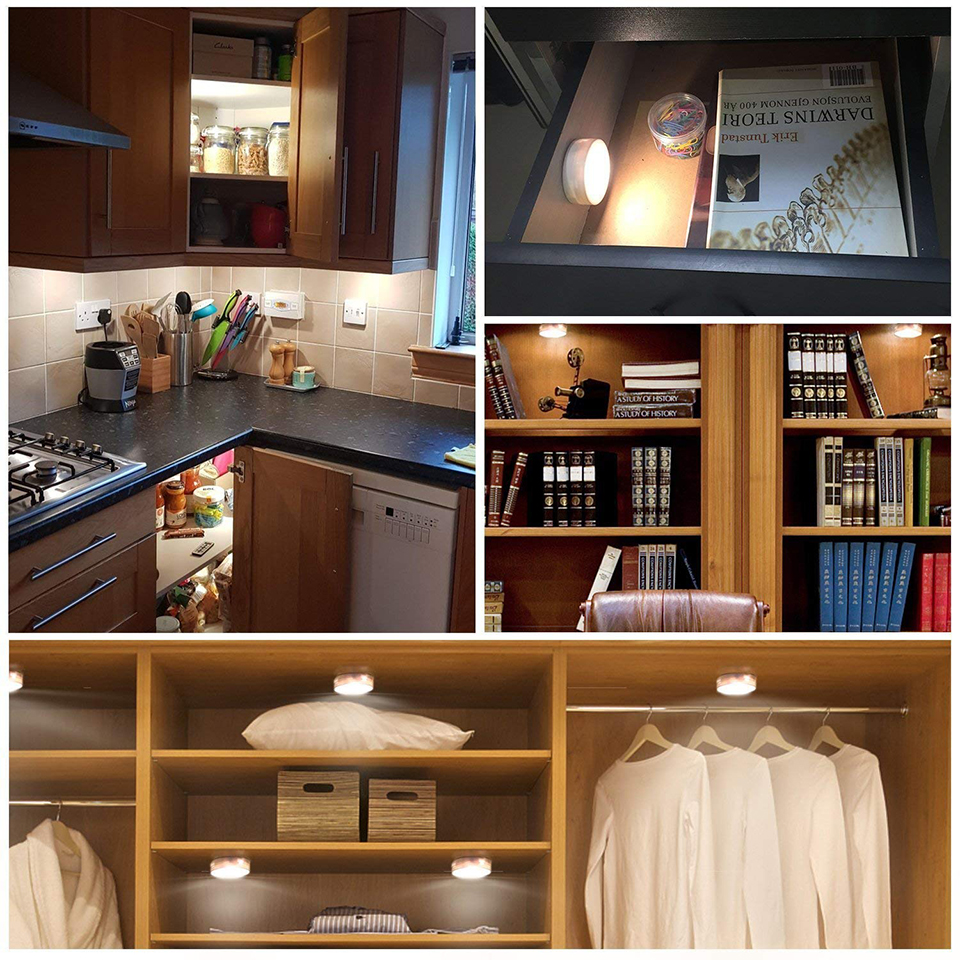 Xsky Under Cabinet Light Wireless Dimmable Touch Sensor LED Night Lamps Battery Power Remote Control Suitable for Kitchen Stair in Under Cabinet Lights from Lights Lighting