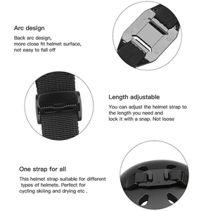 Image 2 - ยิงสายคล้องหมวกนิรภัยสำหรับ GoPro HERO 8 7 5 6 4 สีดำ Xiaomi Yi 4K SJCAM Sj4000 SJ 5000 H9 go Pro Mount ขี่จักรยานอุปกรณ์เสริม