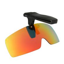 Okulary z polaryzacją czapki z daszkiem czapki sportowe czapki okulary przeciwsłoneczne w formie nakładki na wędkowanie kolarstwo piesze wycieczki okulary golfowe UV400 tanie tanio Ochrona przed promieniowaniem UV NEWBOLER Clip on Polarized Sunglasses gray yellow brown green blue orange and so on