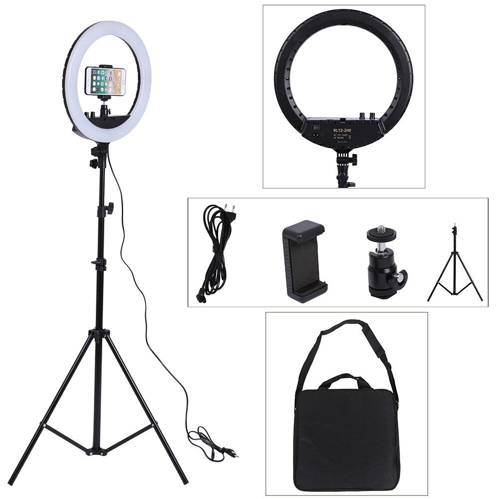 14 pouces Photo Studio éclairage LED anneau lumière 240 pièces 3200-5600k photographie Dimmable anneau lampe avec support pour Portrait, maquillage