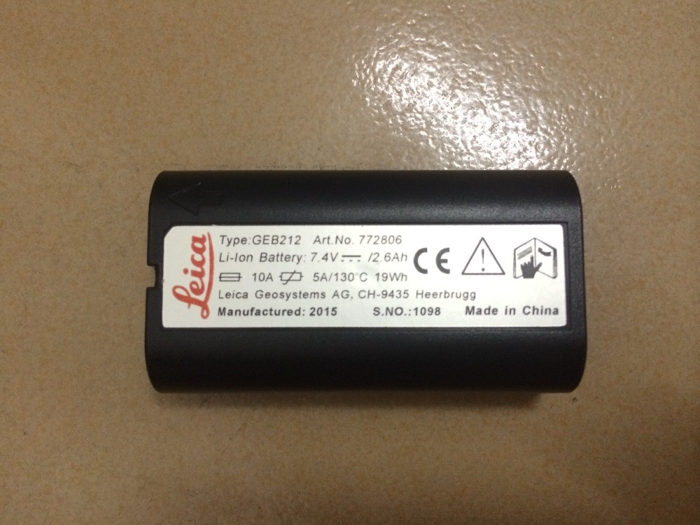 1Pcs Top Quality NEW For Leica Capacity GEB212 7 4V Battery for total Stations and GPS