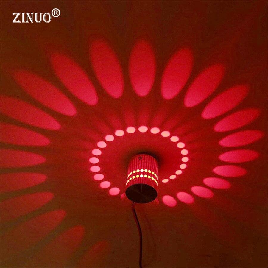 zinuoac85 265v led wandlamp rgb 3 w met 24key afstandsbediening verlichting blaker indoor decoratie licht voor ktv bar restaurant