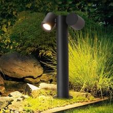 Thrisdar вращающийся светодиодный светильник на столбиках для лужайки, уличный ландшафтный светильник для сада, двора, дорожка, светодиодный светильник, дорожка, лужайка, столбик, светильник