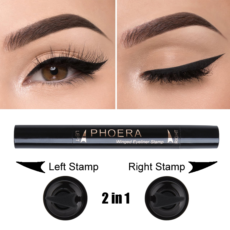 Phoera Eyeliner Pencils Cat Eye Makeup Sexy Liners Double End Winged