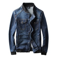 Spring Autumn Jacket Denim Mens Casual Fashion Man Bomber Ba