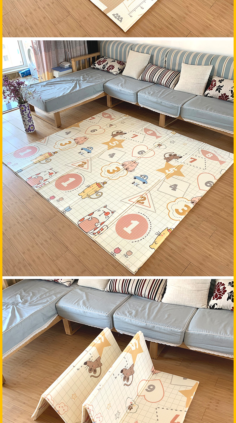 HTB1nB4ab.GF3KVjSZFmq6zqPXXa5 Infant Shining Baby Mat Play Mat for Kids 180*200*1.5cm Playmat Thicker Bigger Kids Carpet Soft Baby Rugs Crawling Floor Mats