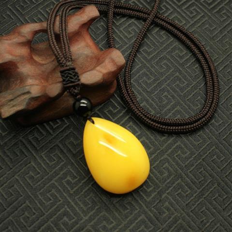 molto carino 66377 d15a2 Uomo di legno lungo gioielli di perle di cristallo resina choker ...