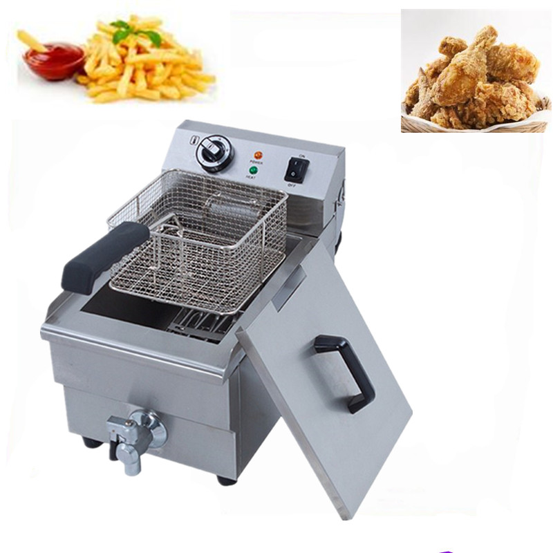 Electric small home deep fryer household healthy fish chicken potato french fries deep oil fat fryer machine 220V пуф french fries