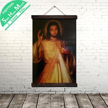 дешево!  Иисус Люблю Тебя Лихорадка Свиток Живопись Старинные Холст Плакат и Печать Стены Искусства Картины
